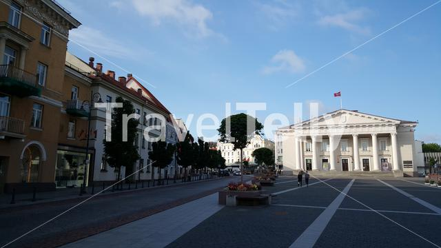 The Town Hall Square in Vilnius Lithuania