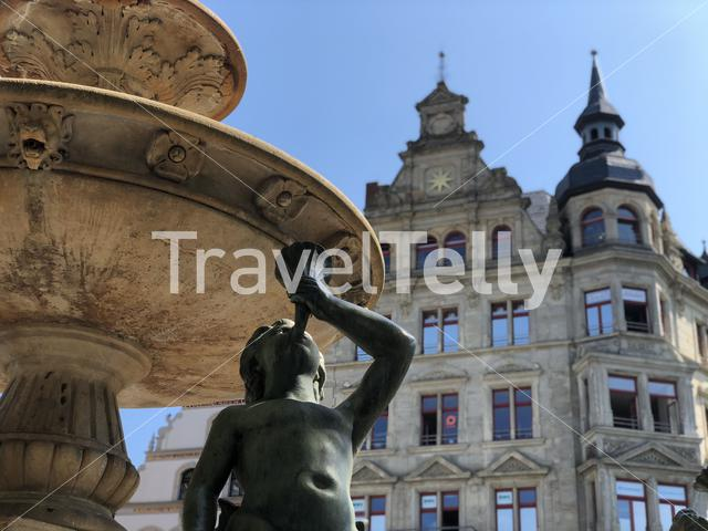Lead fountain in Braunschweig Germany