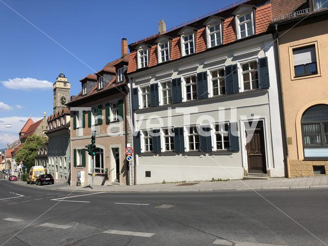 Housing in the old town of Bamberg Germany