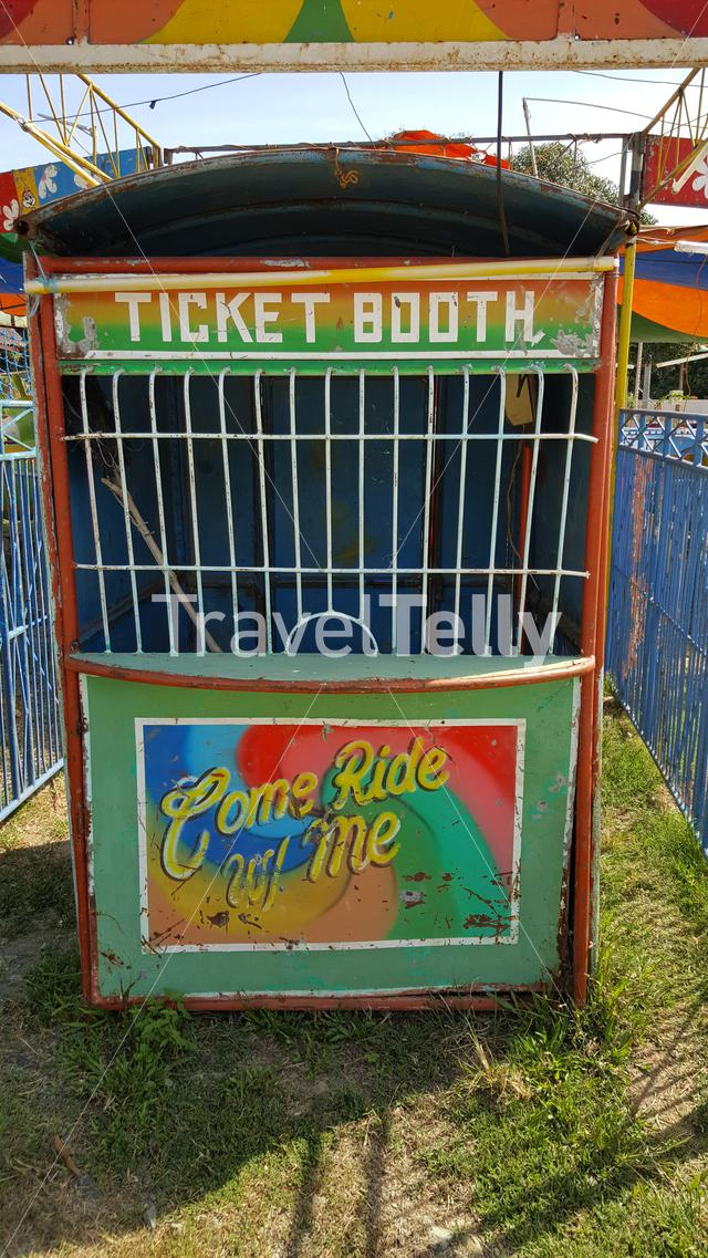 Old ticket booth at carnaval Puerta Princesa, Philippines