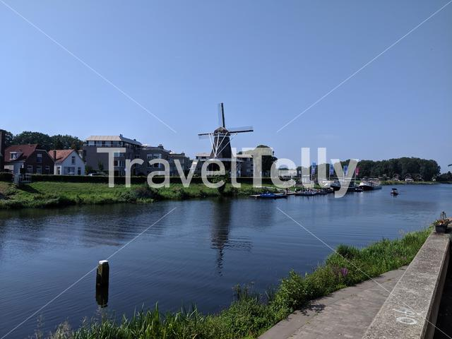 River the Vechte in Ommen, Overijssel The Netherlands