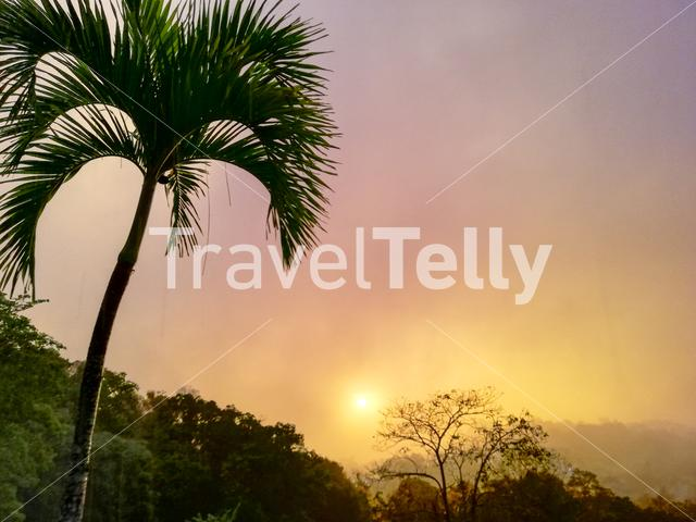 Tropical Stormy Sunset In Manuel Antonio