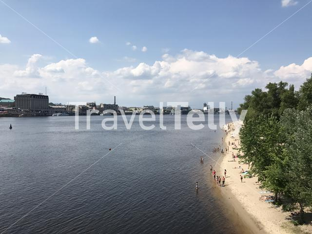 City beach in Kiev Ukraine