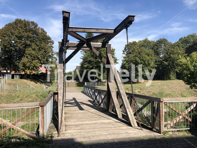 Bridge at the Wesel citadel in Germany