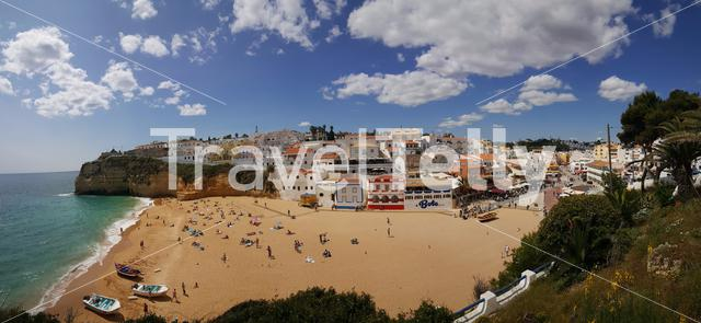 Panorama from Carvoeiro beach in Portugal