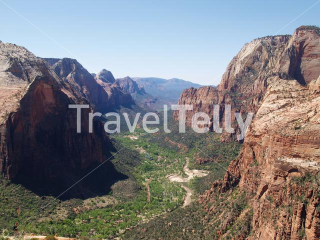 Aerial view from Zion National Park