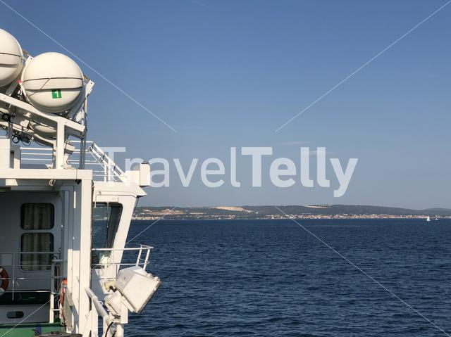 Sailing towards Zadar in Croatia