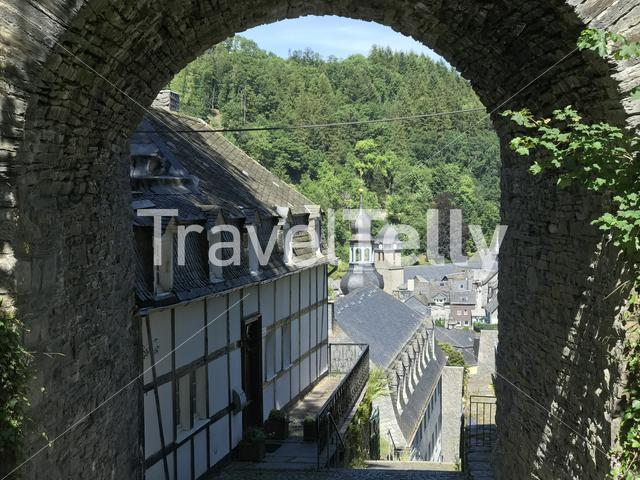 Gate and stairs towards Monschau Germany