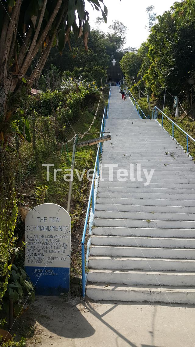 Stairs to Grotto in Bamban Tarlac, Philippines