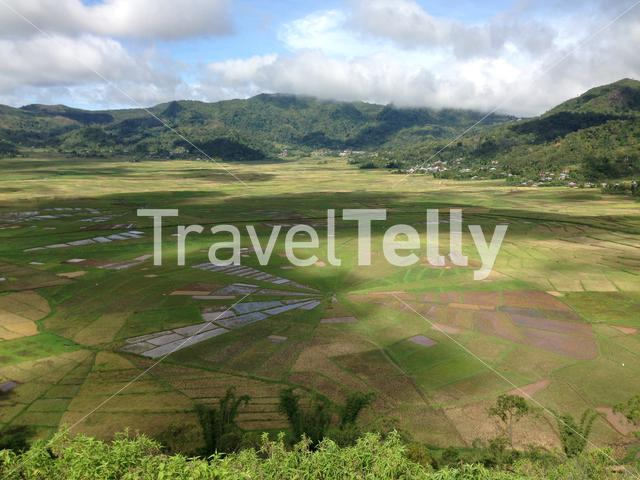 The Spider Web Rice Field around Meler, Ruteng at the island Flores in Indonesia