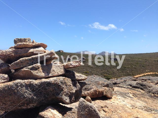Lucky Bay with rocks at Cape Le Grand National Park Australia