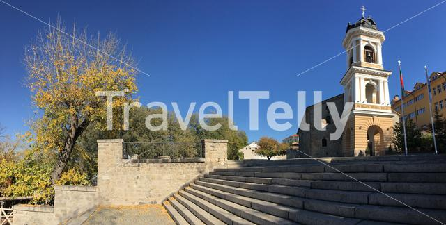 Panorama from the Church of the Holy Mother of God in Plovdiv Bulgaria