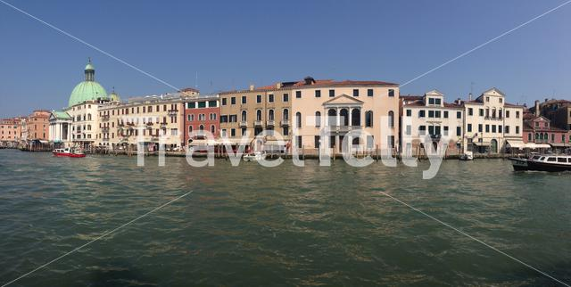 Panorama from the grand canal in Venice Italy