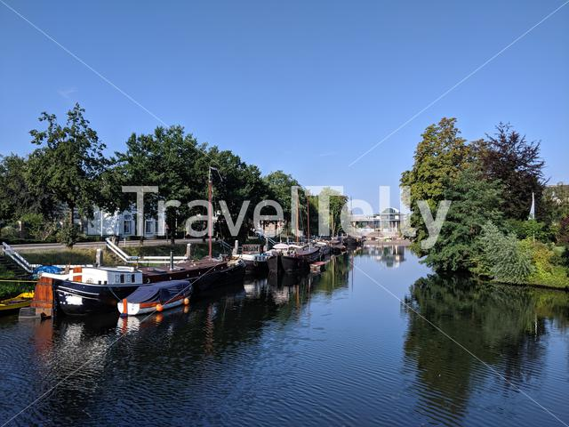 City canal of Zwolle, Overijssel The Netherlands