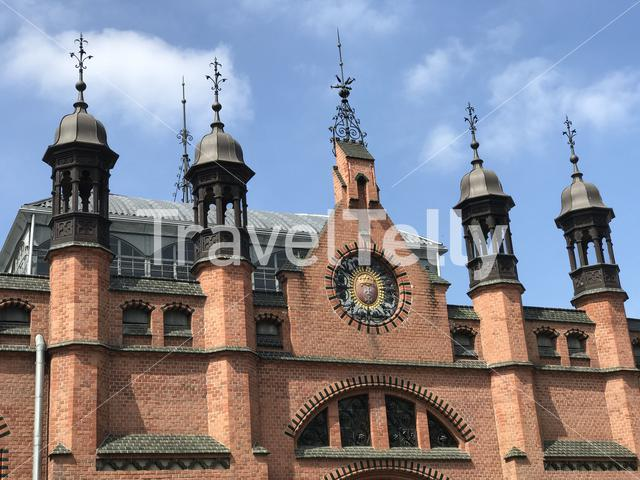 Architecture in the old town of Gdansk Poland