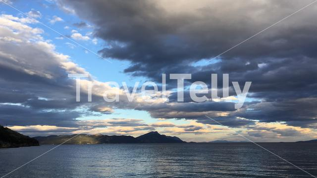 Panorama from the sunset at Ag. Marina Greece