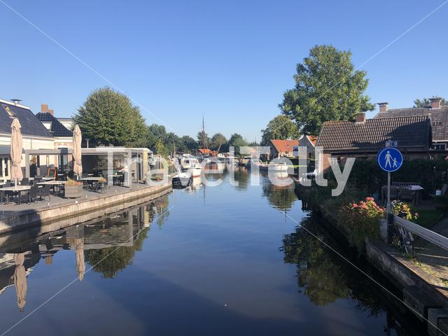 Canal in Warten, Friesland The Netherlands