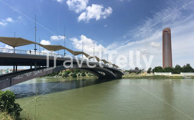 Puente del Cachorro over the Canal de Alfonso XIII in Seville Spain