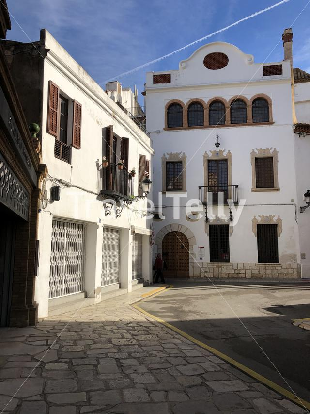 Housing in the old town of Sitges, Spain