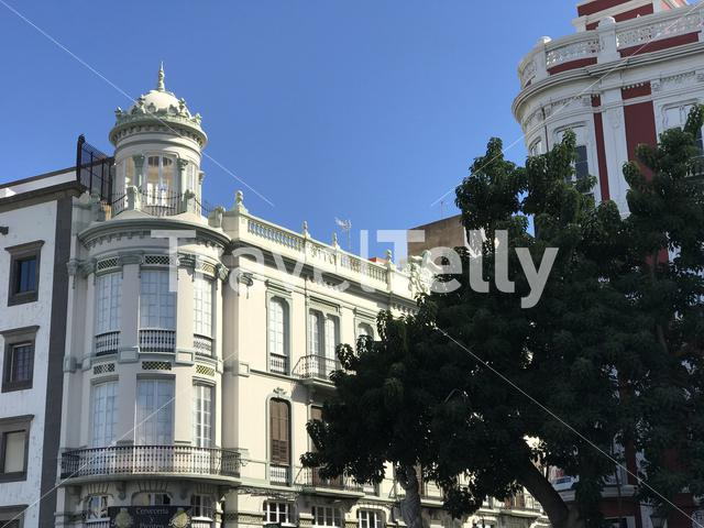 Architecture in the old town of Las Palmas Gran Canaria