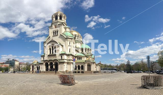 The St. Alexander Nevsky Cathedral a Bulgarian Orthodox cathedral in Sofia, Bulgaria