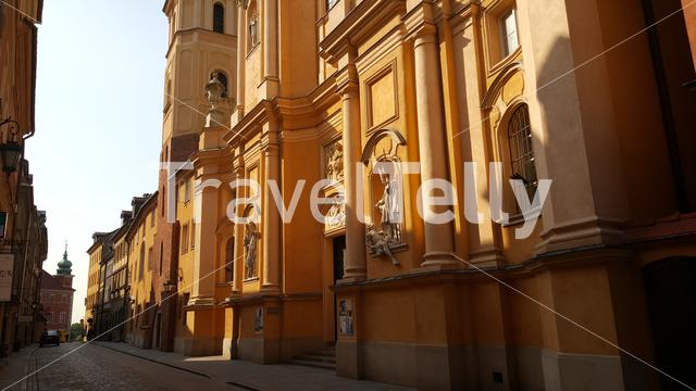 St. Martin's Church in the historic Centre of Warsaw