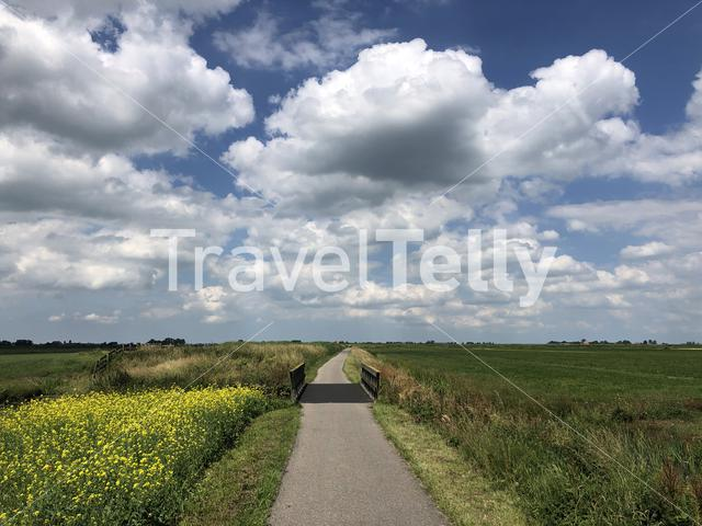 Landscape around Oudega in Friesland, The Netherlands