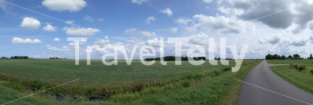 Landscape around It Heidenskip in Friesland The Netherlands