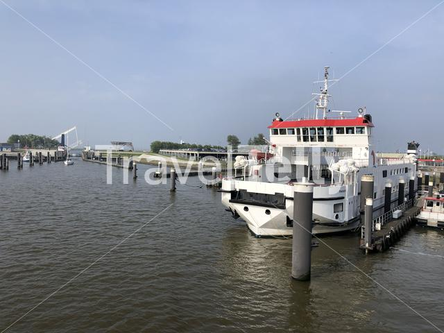 Lauwersoog ferry dock in The Netherlands