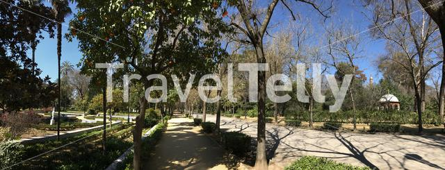 Panorama from the Maria Luisa Park in Seville, Spain