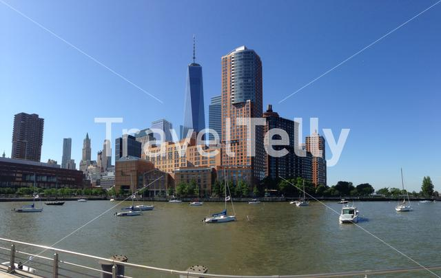 Panorama from the skyline with the Freedom tower in Manhattan New York City, USA