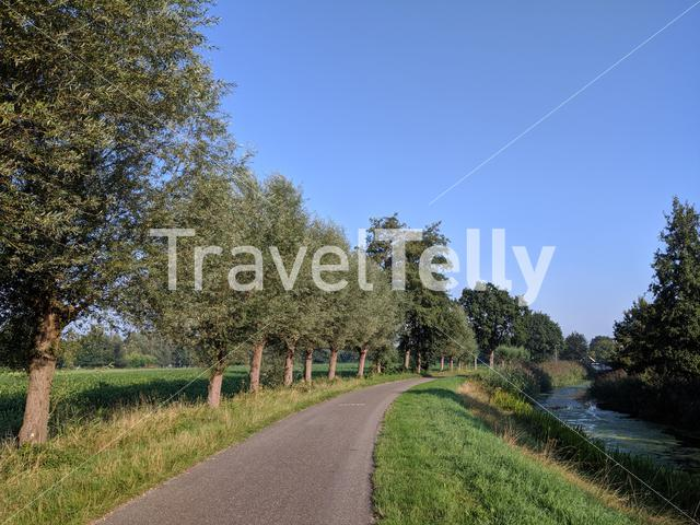 Road towards Laag Zuthem, Overijssel The Netherlands
