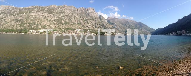 panorama from Kotor bay in Montenegro