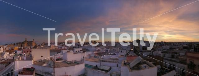 Panorama during sunset in Seville Spain
