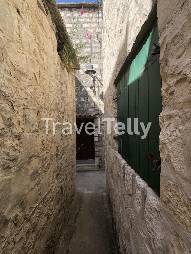 Alley in the old town of Trogir, Croatia