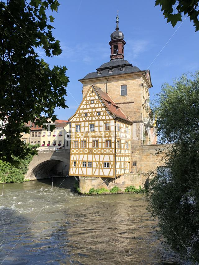 Theold city hall in Bamberg Germany