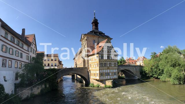 Panorama from the old city hall in Bamberg Germany