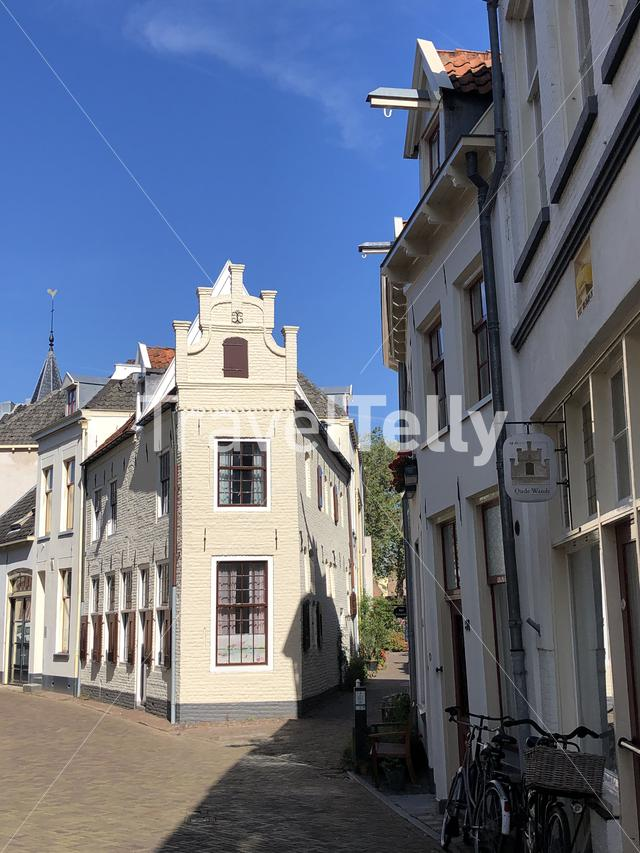 Street in the old town of Zutphen, Gelderland The Netherlands