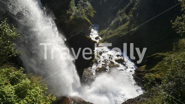 Waterfall at Geiranger national park Norway