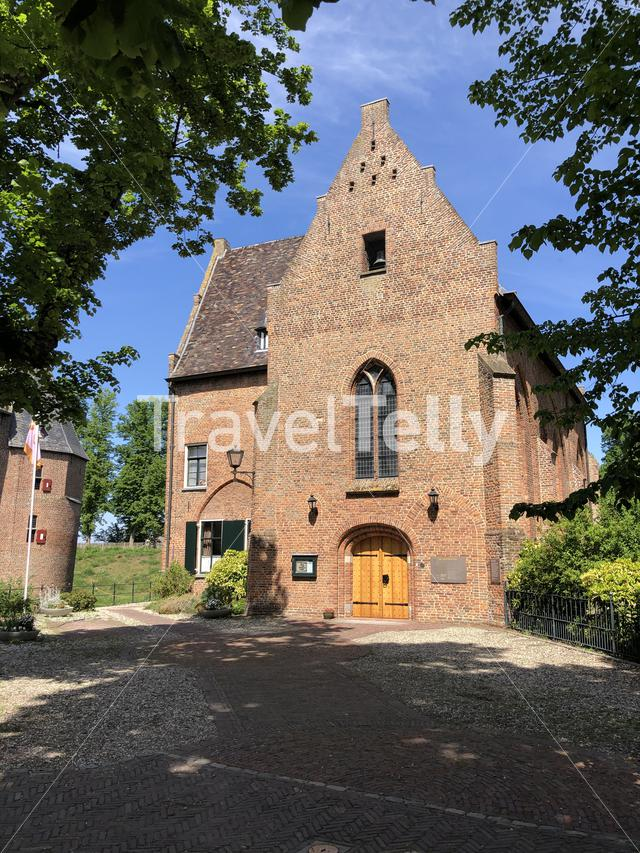 Church next to House Bergh castle in 's-Heerenberg, The Netherlands