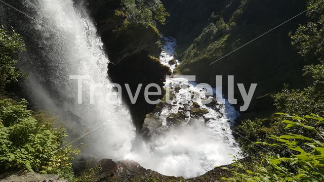 Waterfall in the Geiranger Fjord Sunnylvsfjorden Norway