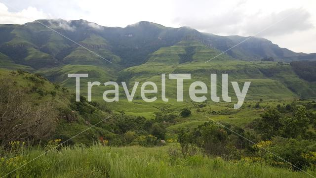 Scenery at Natal Drakensberg National Park in South Africa in South Africa
