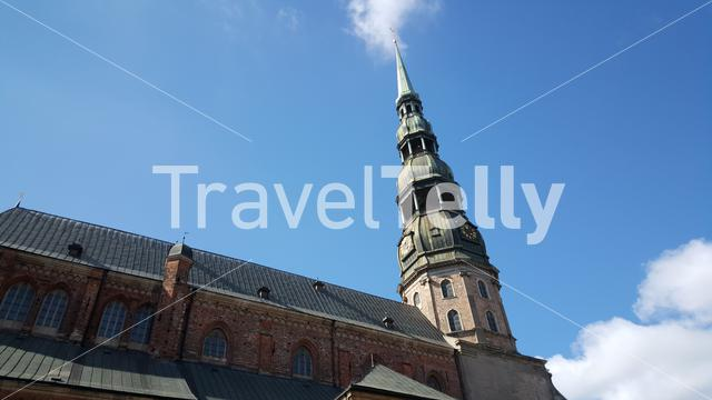 The St. Peter's Church in Riga Latvia