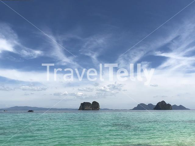 Scenery around Koh Ngai in Thailand