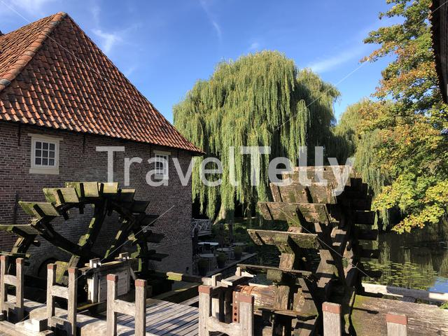 Water wheels In the old town of Borculo, The Netherlands