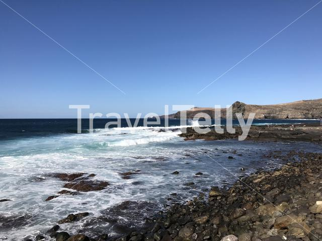 Coast in Agaete Gran Canaria Canary Islands Spain