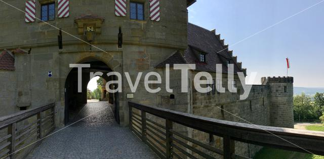 Panorama from the entrance of the Altenburg Castle in Bamberg Germany