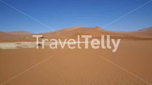 Red dunes landscape at Sossusvlei in Namibia