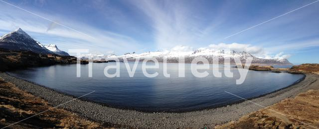 Mountain range panorama in Iceland