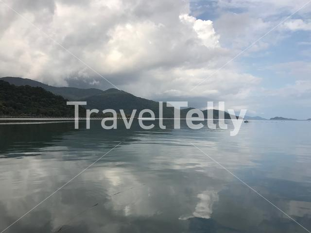 View from Bang Bao Bay with cloud reflection in the water